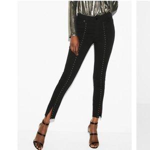 EXPRESS Ankle Legging Black Studded Jean